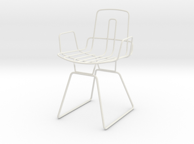 Nais Wire Chair in White Strong & Flexible