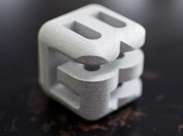 G E B lower (2x2x2) 3d printed Alumide
