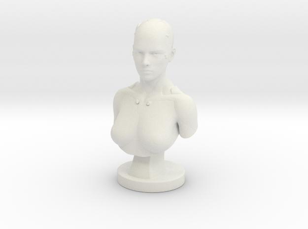 Non-scale Sci-Fi Robotic Assistant Bust Statue in White Natural Versatile Plastic