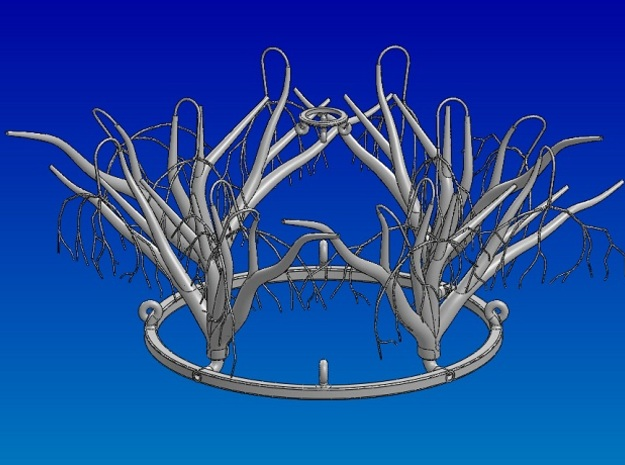 "Branches 3d printed ""Winter Trees"" Assembled Set"