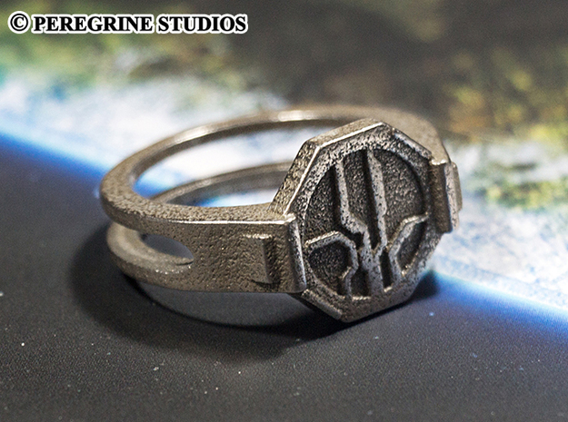 Ring - Mantle's Band (Size 13) in Polished Bronzed Silver Steel