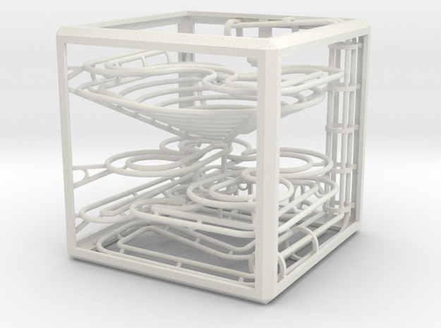 """The Cube"" marble run in White Strong & Flexible"