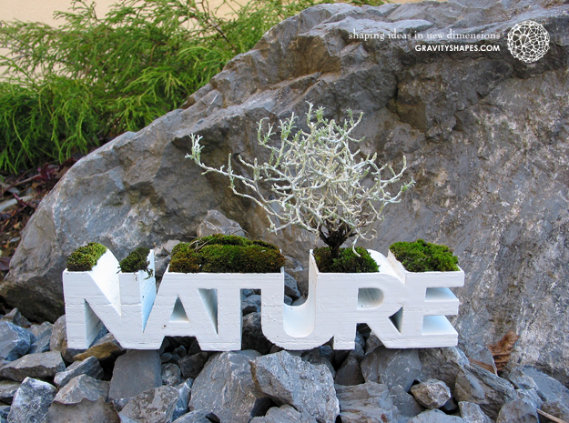 """NATURE"" Planter V1.0. (14 cm or 22 cm) in White Strong & Flexible: Small"