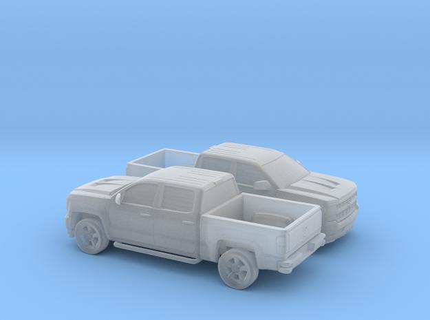 1/160 2X 2016 Chevrolet Silverado in Smooth Fine Detail Plastic