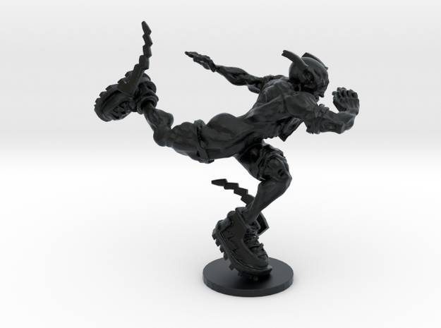 The Flash from the Dark Knight in Black Hi-Def Acrylate