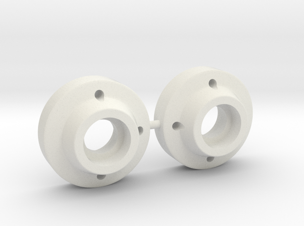 SRB Bearing Carriers MIP style in White Natural Versatile Plastic