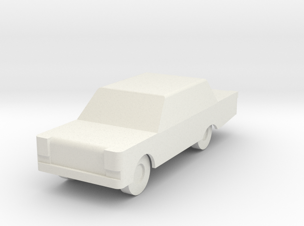 Generic Automobile in White Natural Versatile Plastic