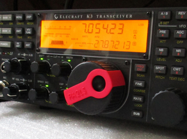 Clip for Elecraft K3 knob in Red Strong & Flexible Polished