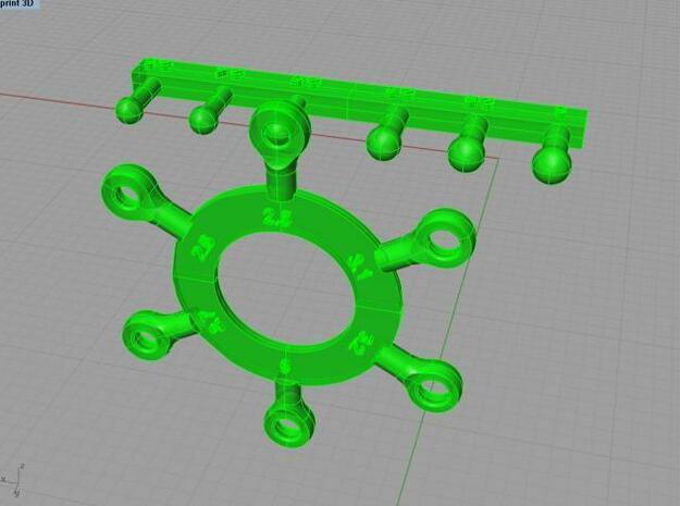 linkage 3d printed Description