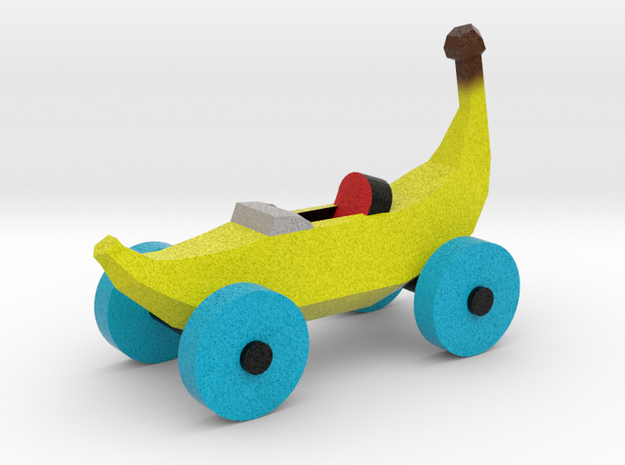 Banana Car in Full Color Sandstone