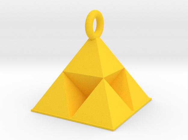 Tri-chain in Yellow Processed Versatile Plastic: Small