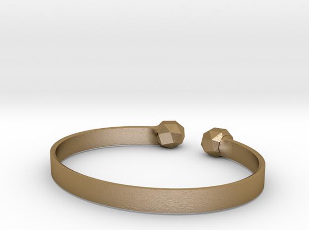 Simple Geo Bracelet in Polished Gold Steel