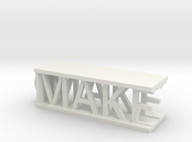Make-It Keychain in White Natural Versatile Plastic