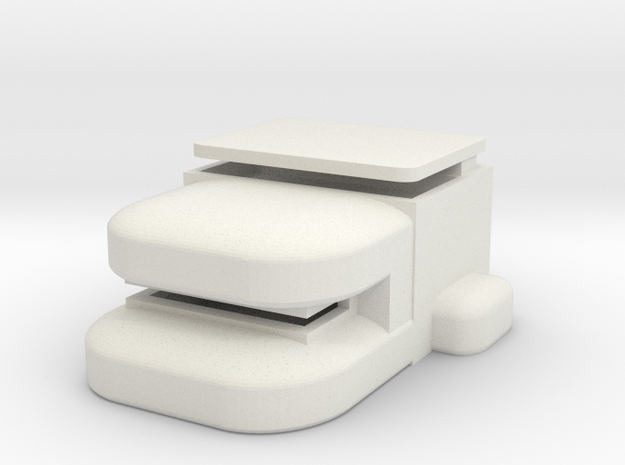 Heavy Bunker in White Strong & Flexible