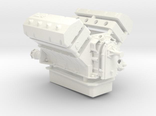 AJPE 1/12 Hemi Single Plug in White Processed Versatile Plastic