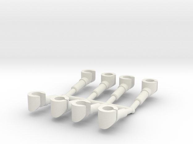 4 pairs customized hands for mini-figures.  in White Natural Versatile Plastic
