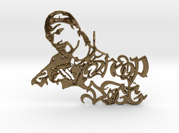 Snoop Doggy Dog Pendant in Natural Bronze