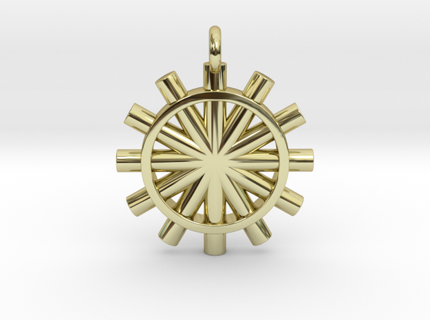 Suspension of the Sun  in 18k Gold Plated