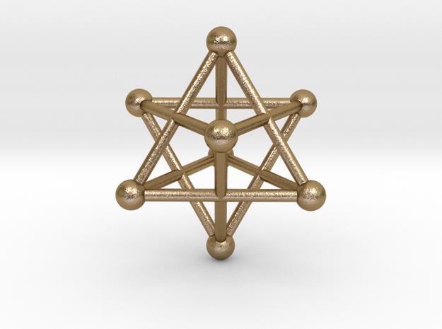 UNIVERSO Merkaba in Polished Gold Steel