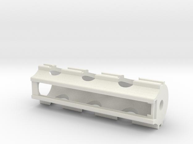 Piston V8 in White Strong & Flexible: Small