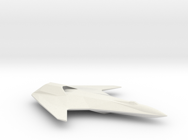 Corsair-Class Fighter in White Natural Versatile Plastic