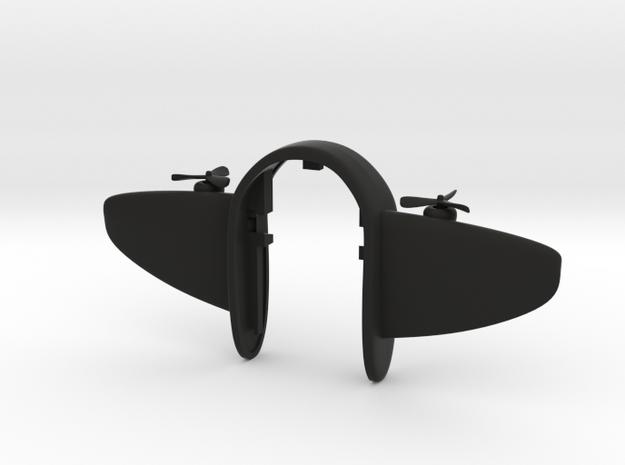 AIRPLANE KEY FOB  in Black Natural Versatile Plastic
