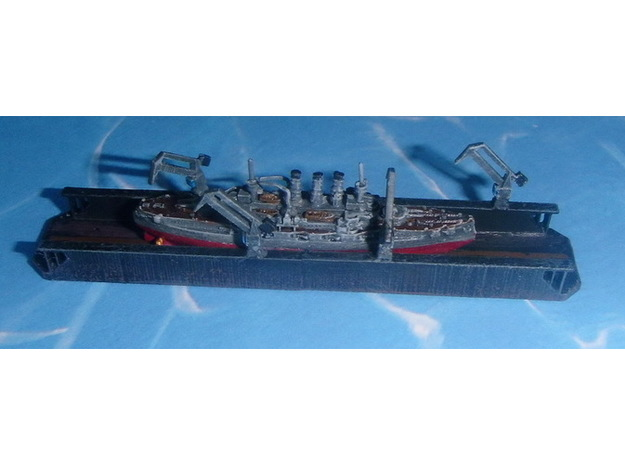 Floating Drydock modern Style 1 Section 1/1800 3d printed Add a caption...