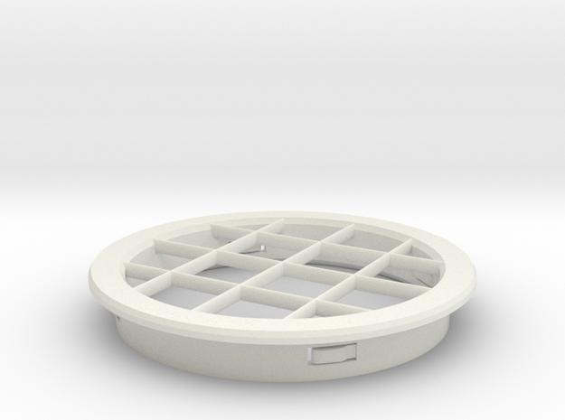 PVC Vent Screen Cap in White Strong & Flexible