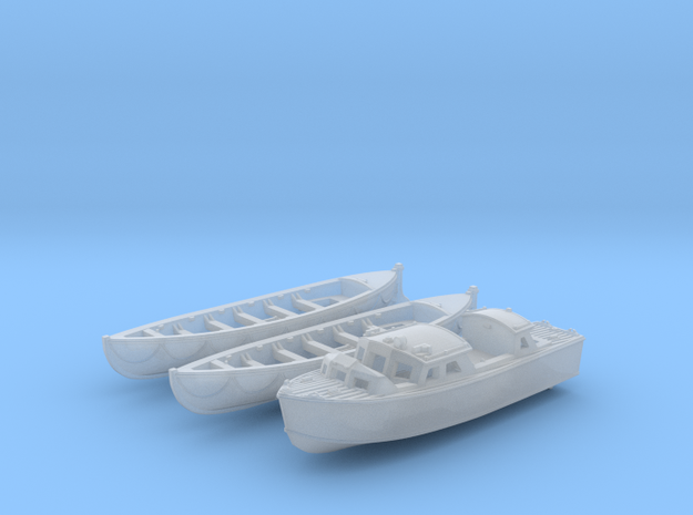 1/144 Scale HMS Glowworm Boat Set in Smooth Fine Detail Plastic
