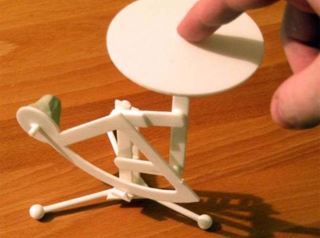Balance Weighing Scale 3d printed The scale in Whte Strong & Flexible