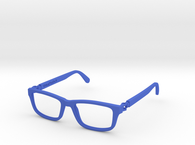 VirtualTryOn.fr Lunettes /  Glasses in Blue Strong & Flexible Polished