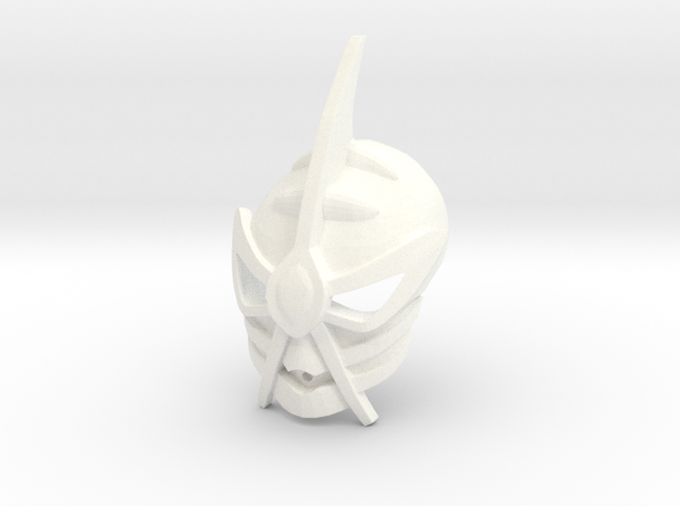 Freya's Kanohi Crast in White Strong & Flexible Polished
