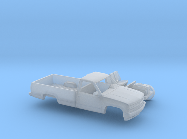 1/87 1994 Chevrolet Silverado Single Cab Long Bed  in Smooth Fine Detail Plastic