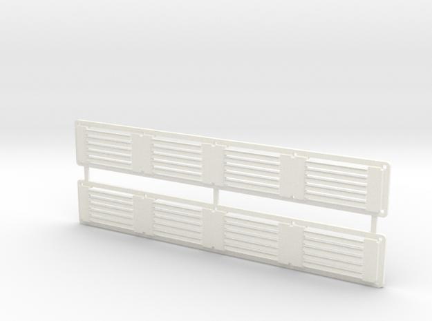 Rivarossi FM C-Liner Radiator Grille Frame in White Processed Versatile Plastic