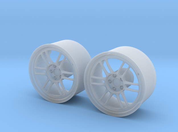 "Enkei RPF1 17"" 1/24 pack Fujimi spindle (2 rims) in Frosted Ultra Detail"