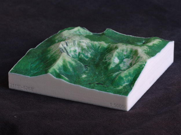 Mt. Katahdin, Maine, USA, 1:50000 Explorer in Full Color Sandstone
