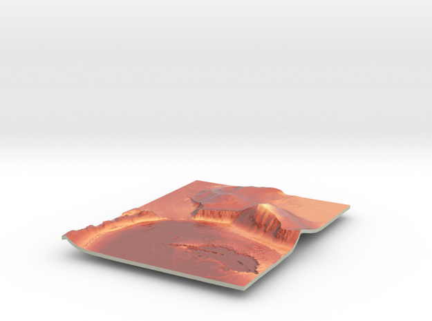 Mars Map: Lava Vent - Red in Coated Full Color Sandstone
