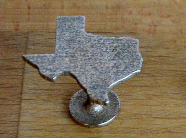 Cufflinks - Choose Any State (Texas) in Polished Bronzed Silver Steel