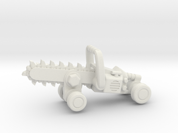 Chainsaw Car, Prize Size! in White Strong & Flexible