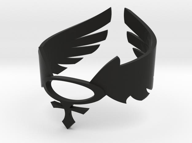 Goddesses: Valkyrie bracelet in Black Natural Versatile Plastic