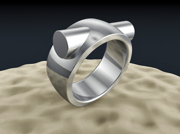 Through in Polished Silver