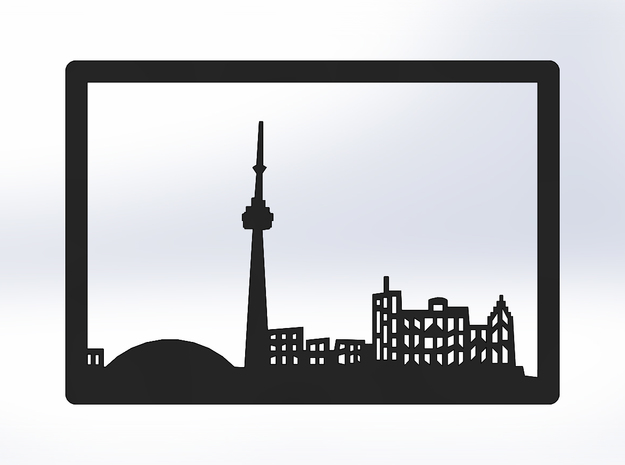 Toronto Skyline - Bookend in White Strong & Flexible