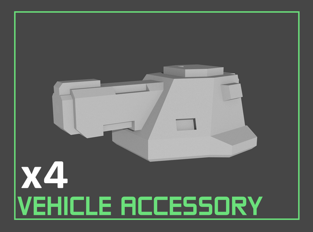"""Broadcannons"" Transformers Accessory (2mm hole)"
