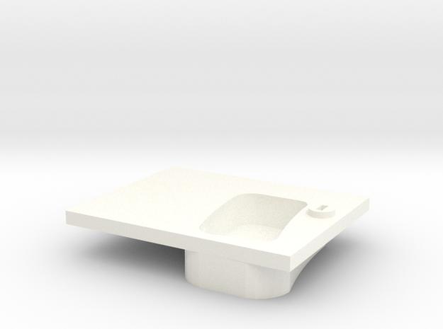 Door handle old model left front D90 1/2 in White Processed Versatile Plastic