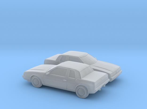 1/160 2X 1985-89 Oldsmobile Toronado in Smooth Fine Detail Plastic