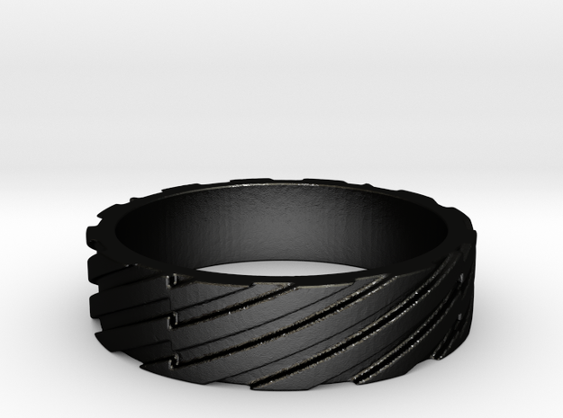One Stripe at a Time in Matte Black Steel