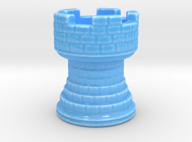 Shaving Brush Handle: Rook in Gloss Blue Porcelain