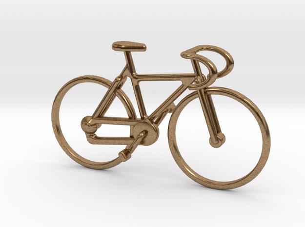 Racing Bike Pendant in Raw Brass