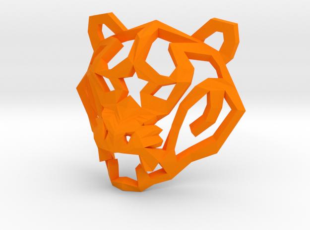 Star Tiger Pendant in Orange Processed Versatile Plastic