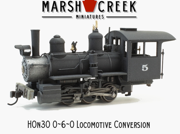 HOn30 0-6-0/ 2-6-2 Conversion Kit in Smoothest Fine Detail Plastic
